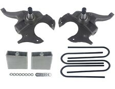 "Drop Spindles & Blocks 2"" Front 4"" Rear Lowering Kit For Chevy S10 2wd Lower 2/4"