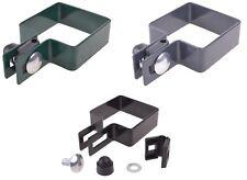 Endschelle verzinkt + RAL  Stahl für Pfosten 60x60 80x80 100x100 Befestigung Set