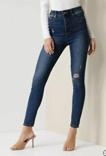 Forever New High Waist Rise Sculpting Bella Jeans Distressed Size 8 EUC