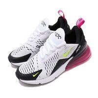 Nike Air Max 270 GS White Volt Black Laser Fuchsia Kid Women Shoes 943345-102
