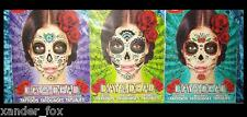 Day of the Dead, Dia de los Muertos 3 FACE TATTOOS Sugar Skull Halloween Costume