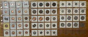 Mauritius: All In One - 56 Coins Lot- 1c, 2c,5c,10c,20c,1/4R,1/2R,1R,5R,10Rupee