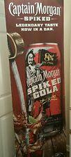 Captain Morgan Spiked Cola DISPLAY Ad  Advertising Bar Sign / Bar Liquor Banner