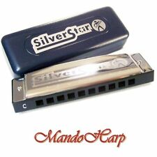 Hohner Harmonica - 50401 Silver Star - ADVISE KEY: Bb, D, E or F ONLY - NEW