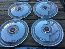 "50's  55 56 Ford Victoria Thunderbird or Fairlane Set of Four 15"" Hubcaps"