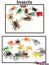 Plastic Insects Spiders Play Set Toys Insect Action Figurines Decor Kids Gifts