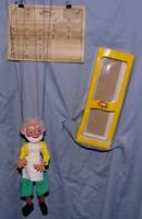 "DISNEY1960's""GEPPETTO"" PELHAM ""SL8 SERIES""BOXED PUPPET SET+ORIG.INSTRUCTIONS-EX"