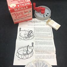 "Vtg Bucilla 2.5"" Yarn Cutter Latch Hook Rug Blades Instructions Made in Germany"