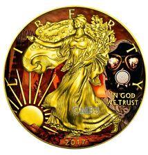 ARMAGEDDON OUTBREAK EAGLES – 2017 1 Oz  American Eagle Coin and 24K Gold Gilded.