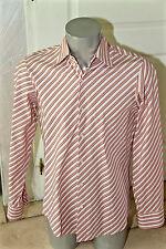 chemise rose rayée black label HUGO BOSS taille 40 - 15 1/4 (M-L)  ÉTAT NEUF