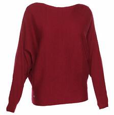 Lauren Ralph Lauren Women's Dolman Sleeve Ribbed Pullover Sweater Red Large