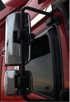 MERCEDES AXOR CHROME MIRROR COVERS 4 pcs. STAINLESS STEEL