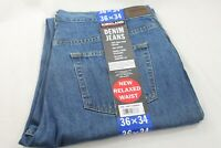Kirkland Signature Mens Washed Blue Denim Jeans Pants Relaxed Fit Size 36x34