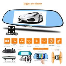Dual Lens Car DVR  Dash Cam Video Rearview Mirror Video Camera Recorder