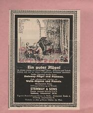 HAMBURG, Werbung 1925, Steinway & Sons Fabrik Piano Flügel