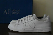 Armani Jeans White Leather Sneakers Sz. 8 (41)