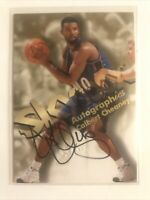 1998-99 SkyBox Premium Autographics Calbert Cheaney Autographed Card 1998 NBA