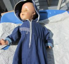 "Shirley Temple Doll Original Snowsuit Navy Blue With Embroidery 1935 18"" Compo"