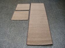 Caravan/Motorhome Interior Floor Carpet Mats - Light Brown (3 Piece)