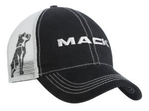 Mack Trucks Black & Grey Bulldog Logo Snapback Mens Mesh Cap/Hat