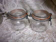 (2) WIRE BALE  CANISTER JARS 580ML -19.6 OZ  FRENCH LE PARFAIT -  SEALS GREAT