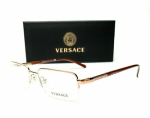 Versace VE1066 1053 Light Brown Demo Lens Men's Square Eyeglasses 50mm