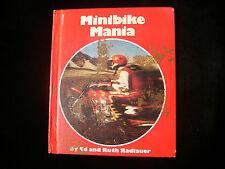 MINIBIKE MANIA CHILDRENS READING BOOK DIRT BIKES MOTORCYCLE SIGNED ED RADLAUER