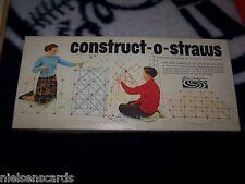 CONSTRUCT-O-STRAWS PARKER BROTHERS 1964 Set No. 114