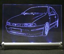 Fiat BRAVO Gravur  als  AutoGravur auf LED-Leuchtschild