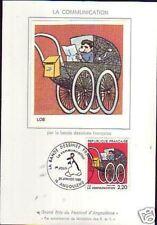2513- FDC  CARTE 1er  JOUR  SOIE BANDE DESSINEE  LOB