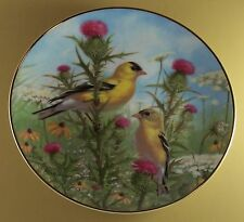 Goldfinch Plate Golden Glories A Garden Song Mib + Coa