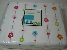 New West Point Home Martex Kids Miley Floral Full Sheet Set 4 pc Flowers  NIP