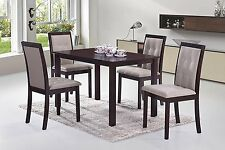 5pc Dining Dinette Set for 4 People finished in Dark Espresso by Malko