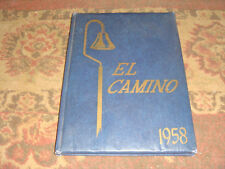 1958 El Camino High School Yearbook - Monterey? CA - Religious - FREE SHIPPING