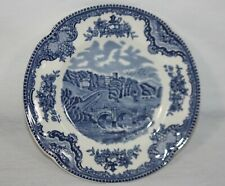 "Johnson Bros Old Britain Castles Haddon Hall 1792 6"" Bread & Butter Plate Blue"