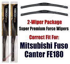 Wipers 2-Pack Hi-Performance fits 2012+ Mitsubishi Fuso Canter FE180 - 25200x2