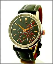 Unique Omega Octopus Cal. 30T2 PC 38mm Ceramic Hand Painting Black Dial Watch