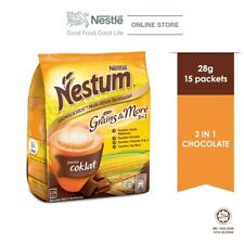 Nestle Nestum Grains & More 3 in 1 Chocolate (28g x 15) + FAST SHIPPING
