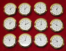 Seiko Mini Insert Clock Movement LOT OF 12 NEW Quartz Battery Fit Up 1 7/16""