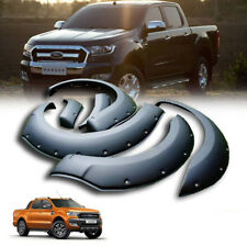Matte Matt Black Fenders Flare Flares Nut For Ford Ranger Mk2 Px2 2015-2017