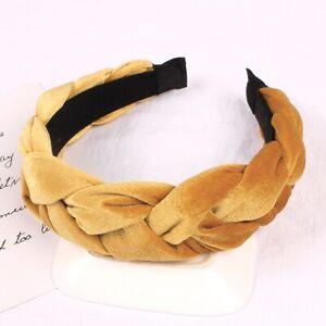 Women's Velvet Headband Hairband Twist Braided Knotted Hair Hoop Tie Accessories