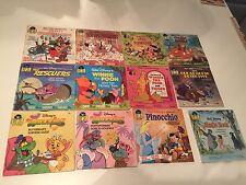 12 Walt Disney's Book and Record Sets Pinocchio Wuzzles Fox & Hound Winnie Pooh