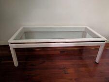 Coffee Table White Wood Gloss Furniture Tea Top