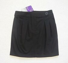 BNWT Girls Black Easy Iron Fashion School Skirt Uniform 10 years Height 140cm