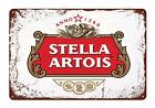 Stella Artois Metal Sign Beer Man Cave
