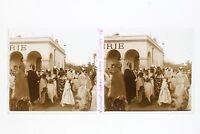 Laghouat Algeria Orientalist Foto Stereo L3n11 Vintage Placca Da Lente