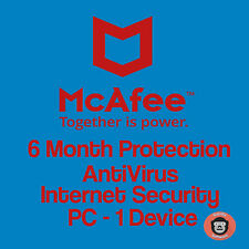 McAfee Internet Security 1 PC 6 months Windows Laptop Authentic Key Anti Virus
