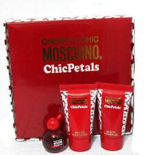 Cheap and Chic Petals Women Moschino EDT Splash Mini 0.17 oz + lotion + Gel  Set