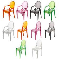 1:6 Dollhouse Mini Accessories Clear Transparent Plastic Chair Furniture Decor