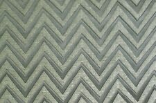 Chenille Chevron Print Stone Modernupholstery Drapery Fabric Sold By The Yard